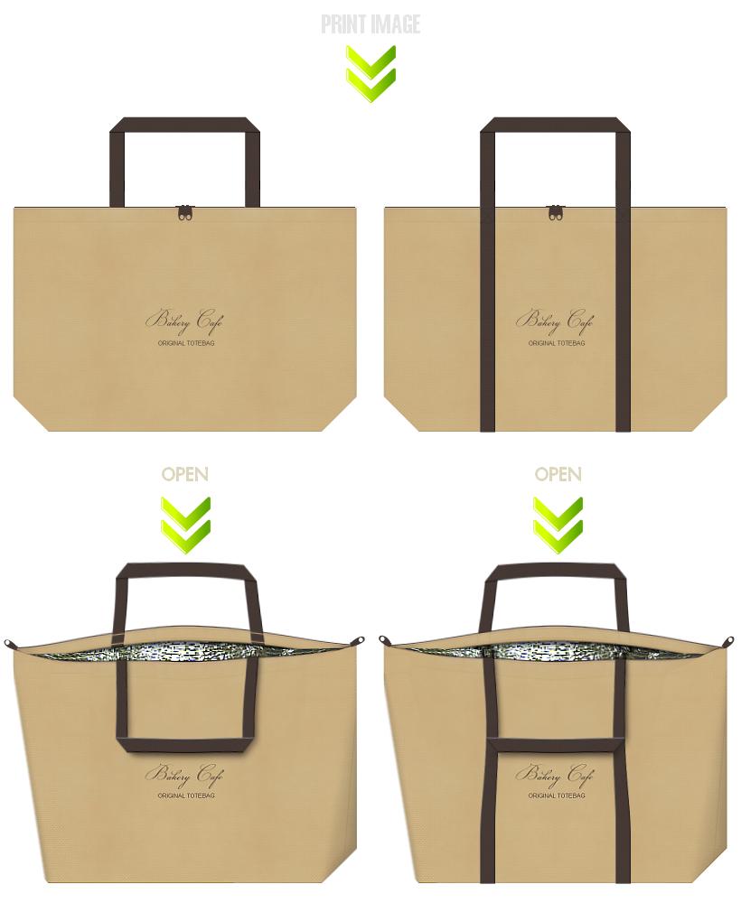 不織布バッグのデザイン:スイーツの保冷バッグ