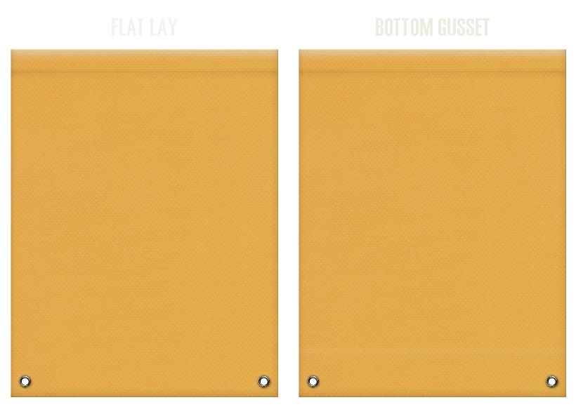 不織布リュックサックのカラーシミュレーション:黄土色