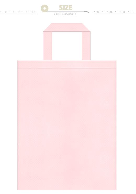 桜色の不織布バッグにお奨めのイメージ:桜・マカロン・桃・フラミンゴ・バレエ