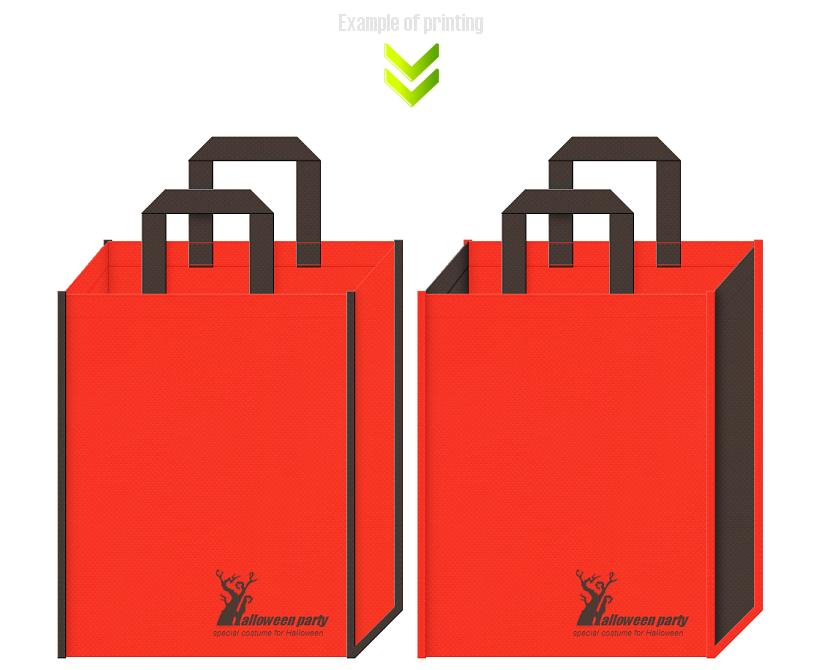ハロウィンの不織布バッグデザイン例