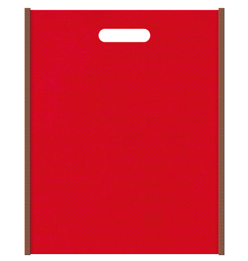 クリスマスギフトにお奨めです。不織布小判抜き袋 本体不織布カラーNo.35 バイアス不織布カラーNo.7