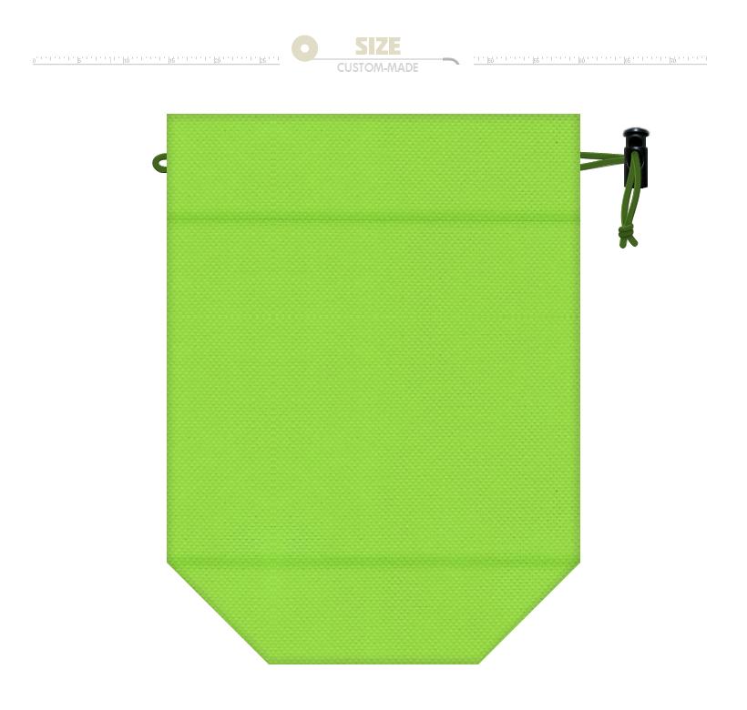 ペットボトルホルダー:黄緑色不織布+保冷シート