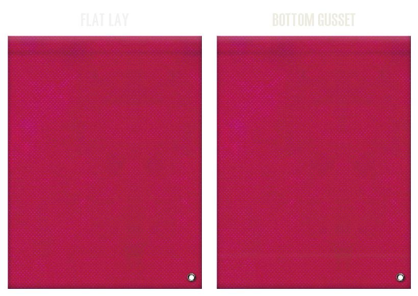不織布ショルダーバッグのカラーシミュレーション:濃いピンク色
