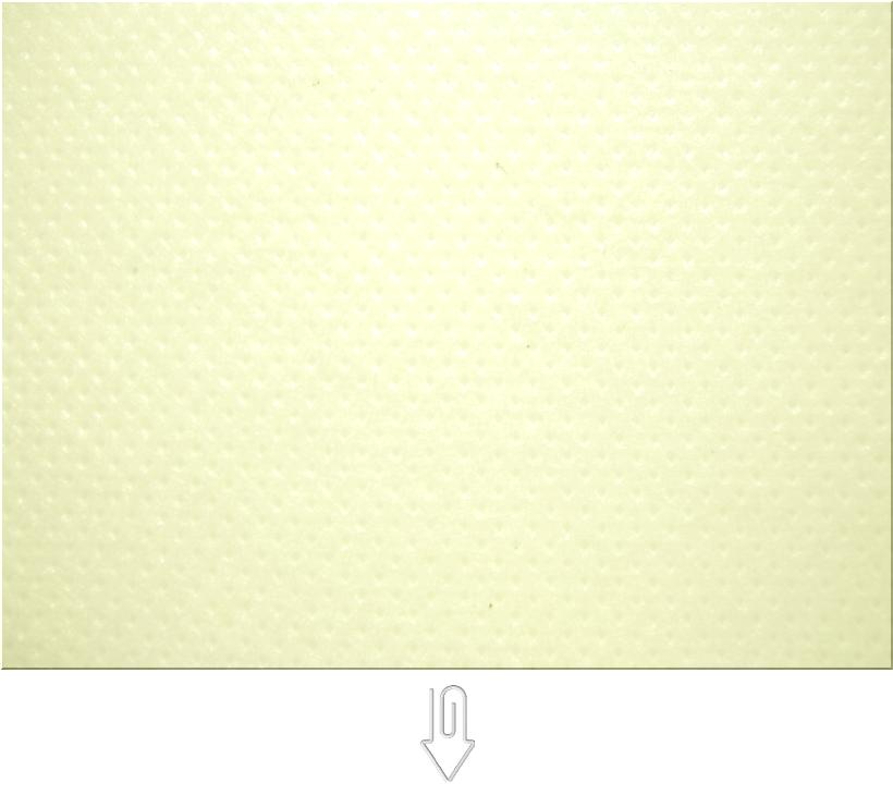 薄黄色の不織布