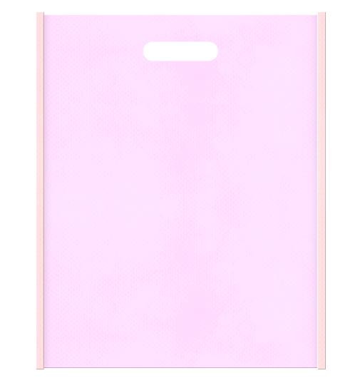 和風柄にお奨めの不織布小判抜き袋:メインカラー桜色とサブカラー明るめのピンク色の色反転