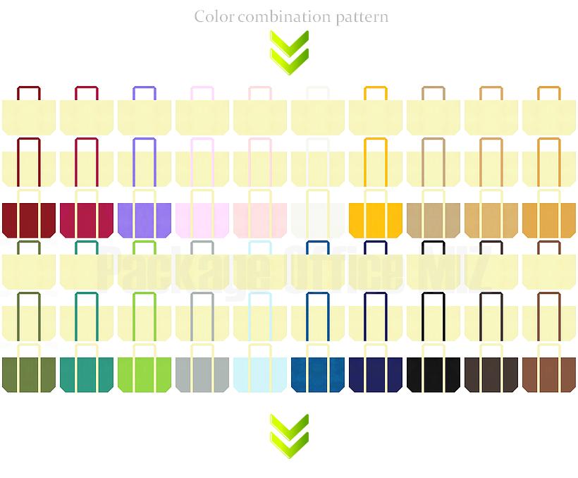 マイバッグにお奨めの不織布バッグデザイン:薄黄色のコーデ