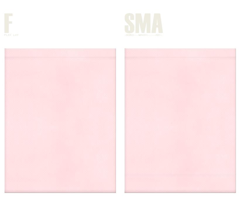 不織布巾着袋のカラーシミュレーション:桜色