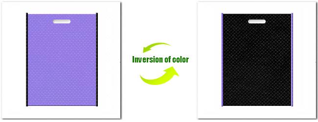 不織布小判抜き袋:No.32ミディアムパープルとNo.9ブラックの組み合わせ