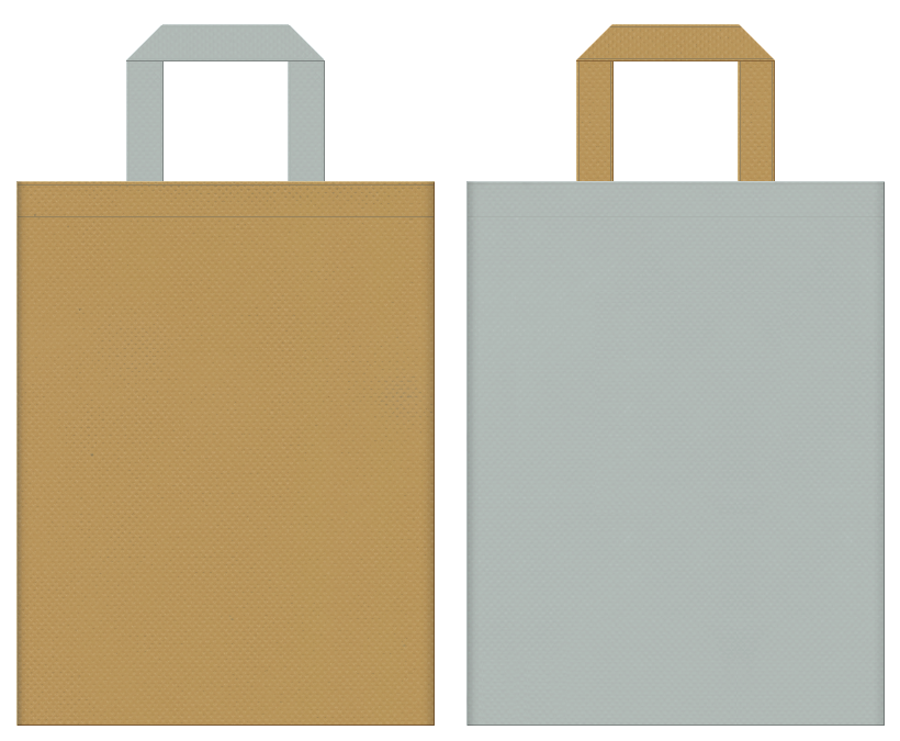 アウター・ニット・セーター・アウトレット・秋冬イベントにお奨めの不織布バッグデザイン:マスタード色とグレー色のコーディネート