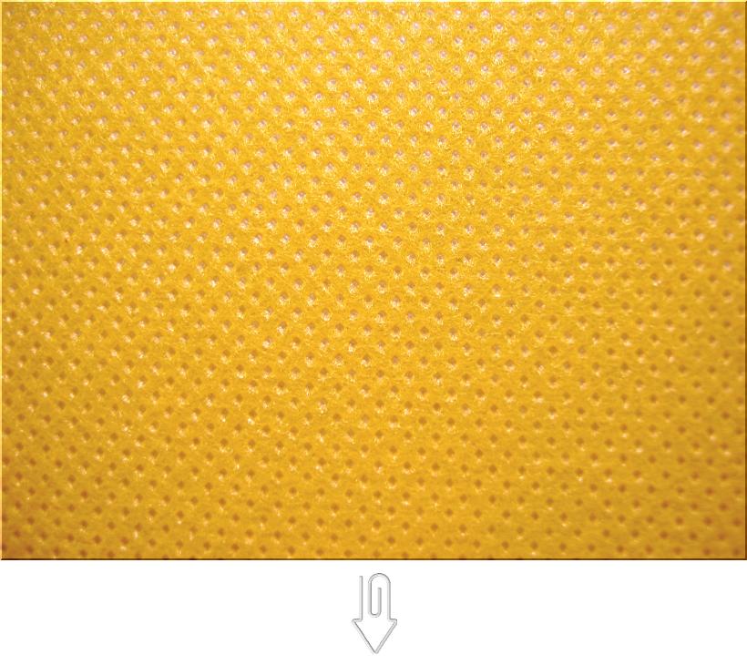 黄色の不織布