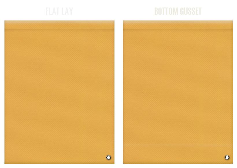 不織布ショルダーバッグのカラーシミュレーション:黄土色