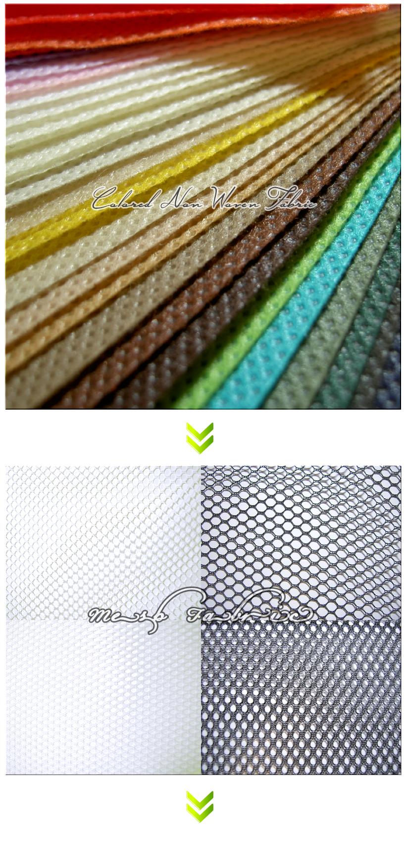 不織布バッグ制作の流れ:2.不織布カラー・メッシュカラーのご選択