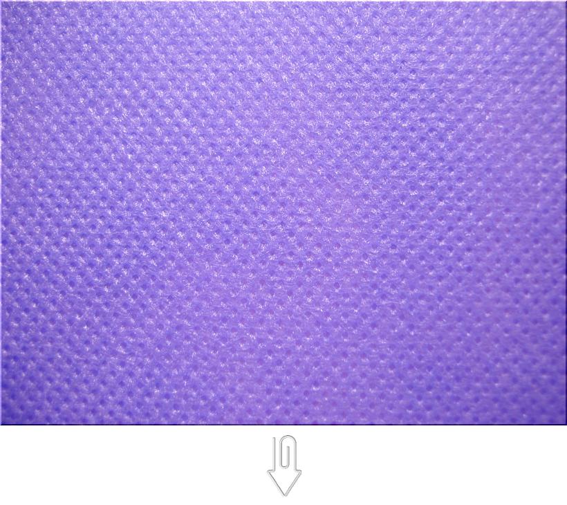 薄紫色の不織布