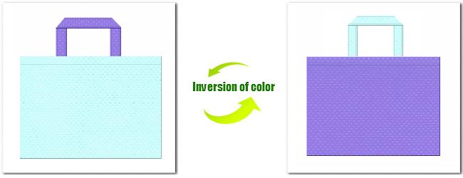 不織布No.30水色と不織布No.32ミディアムパープルの組み合わせ