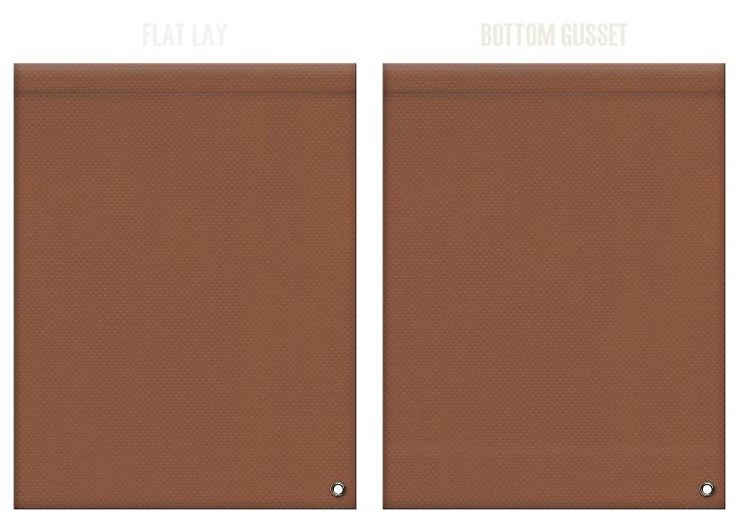 不織布ショルダーバッグのカラーシミュレーション:茶色