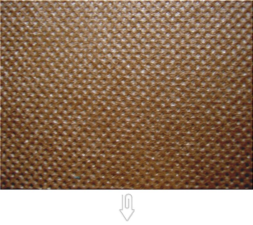 茶色の不織布バッグ制作用生地カラー:不織布No.7