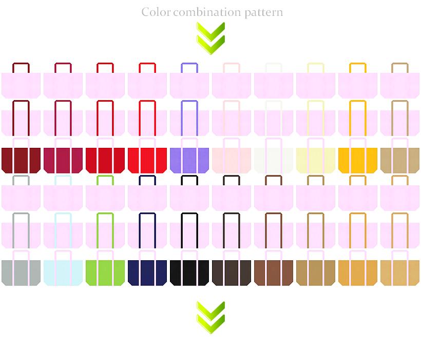ガーリーデザインのショッピングバッグにお奨めの不織布バッグデザイン:パステルピンク色のコーデ