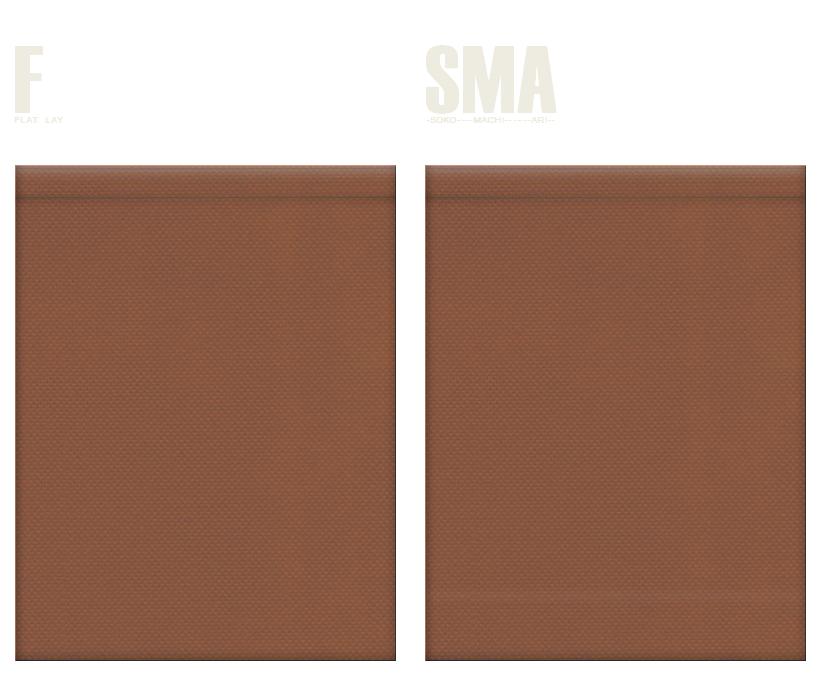 不織布巾着袋のカラーシミュレーション:茶色
