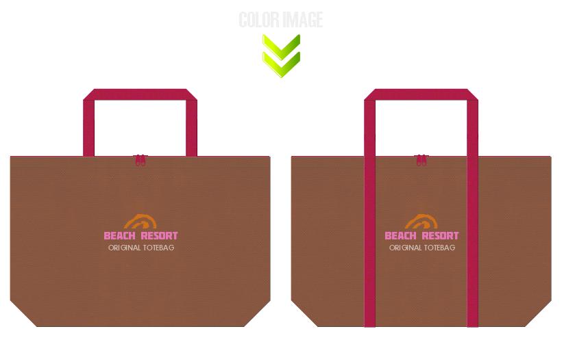 不織布バッグのデザイン:リゾートのショッピングバッグ