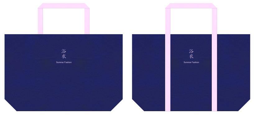 不織布バッグのデザイン:浴衣のショッピングバッグ