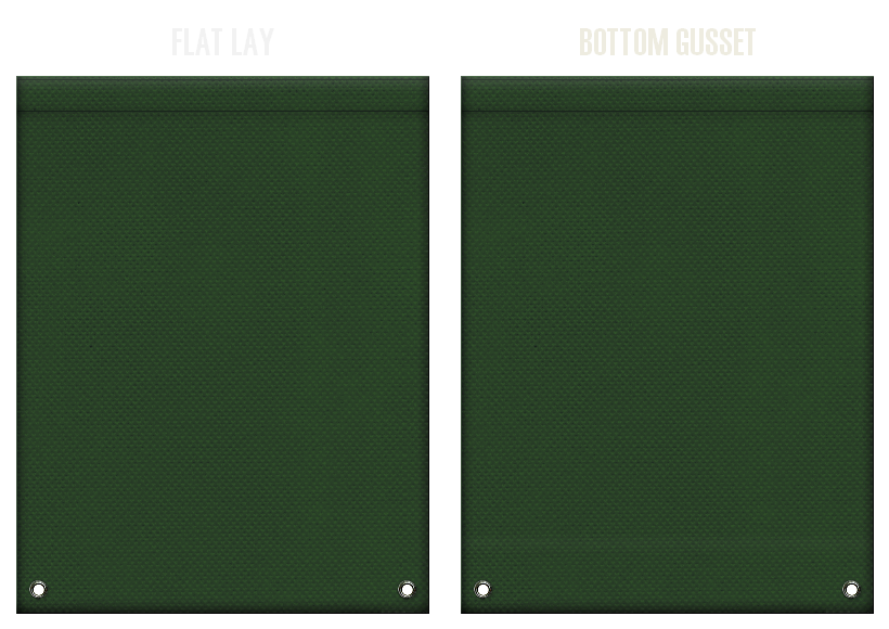 不織布リュックサックのカラーシミュレーション:濃緑色