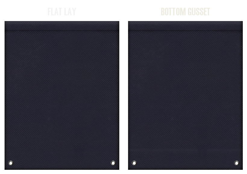 不織布リュックサックのカラーシミュレーション:濃紺色