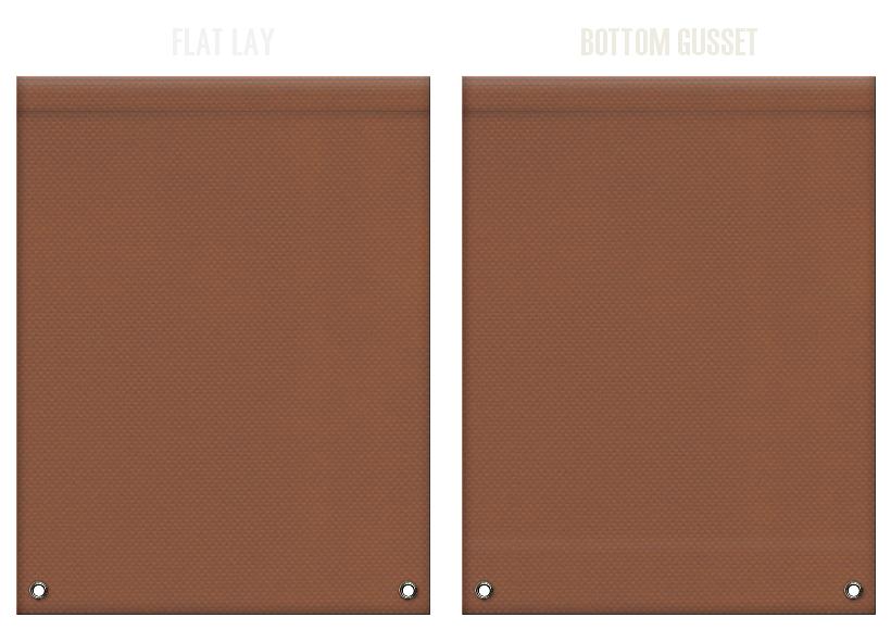不織布リュックサックのカラーシミュレーション:茶色