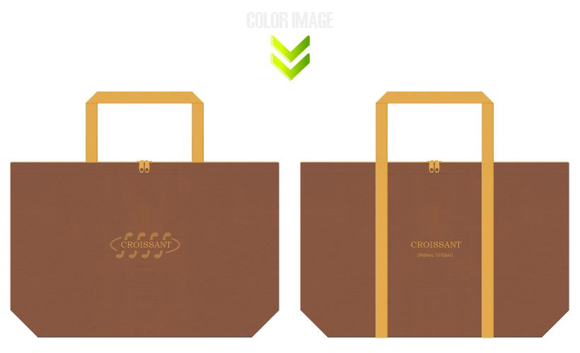 不織布バッグのデザイン:クロワッサン・ベーカリーのショッピングバッグ