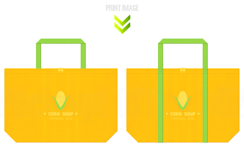 不織布バッグのデザイン:販促イベントのノベルティ
