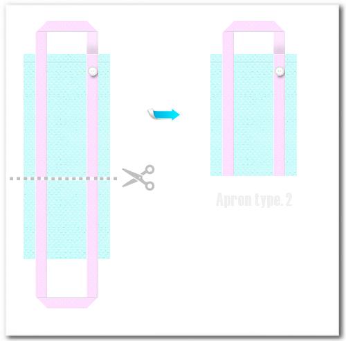 不織布バッグ再利用例 エプロン2