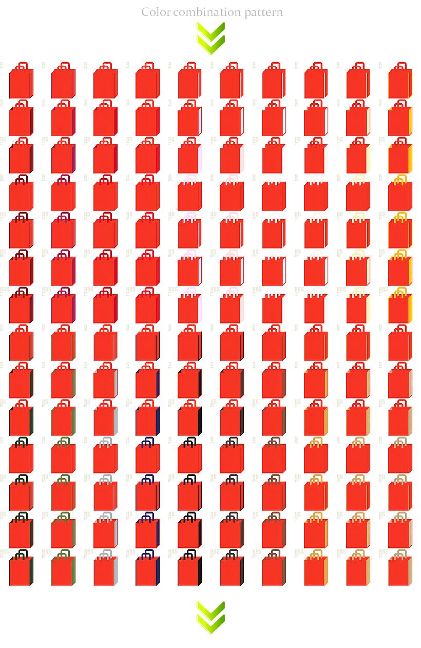 紅葉・スポーツ・キッズ・ハロウィン・食材・レシピ・ランチバッグ・秋のイベントのノベルティにお奨めの不織布バッグデザイン:オレンジ色のコーデ