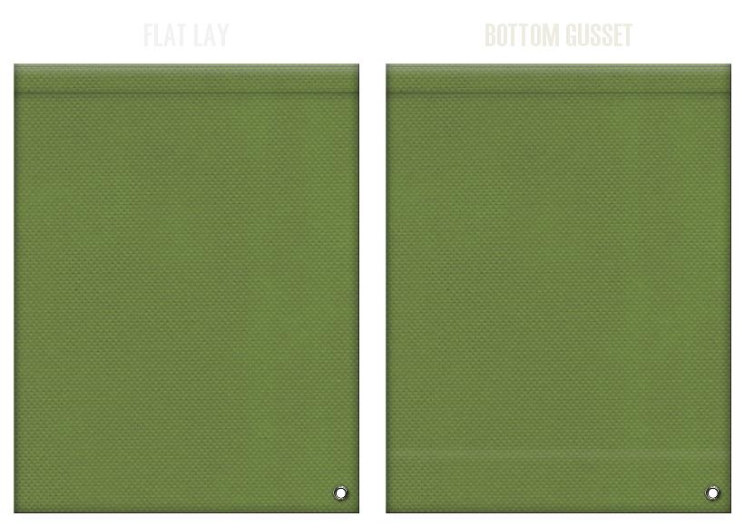 不織布ショルダーバッグのカラーシミュレーション:草色
