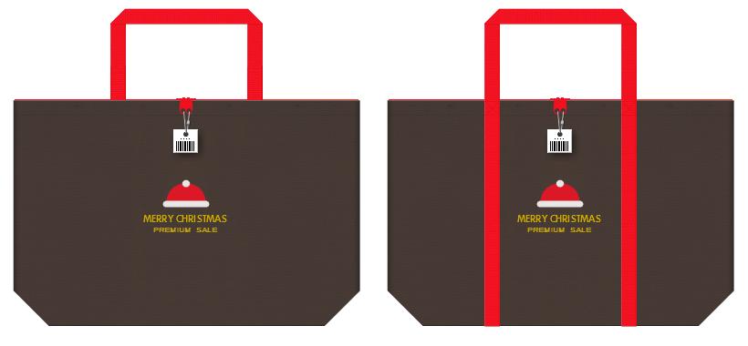 不織布バッグのデザイン:クリスマスセールのショッピングバッグ