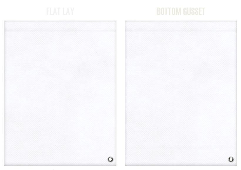 不織布ショルダーバッグのカラーシミュレーション:白色