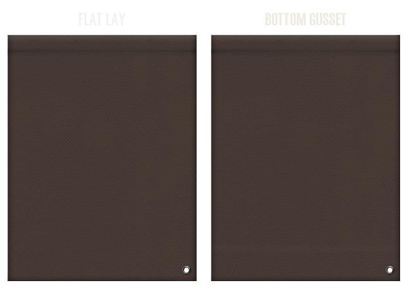 不織布ショルダーバッグのカラーシミュレーション:こげ茶色