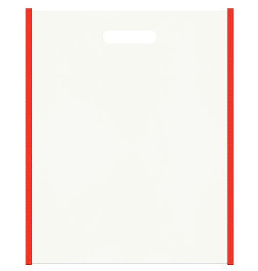 サプリメント販促用にお奨めの不織布小判抜き袋デザイン。メインカラーオレンジ色とサブカラーオフホワイト色の色反転