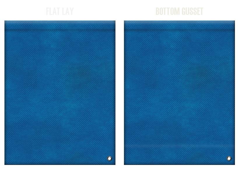 不織布ショルダーバッグのカラーシミュレーション:青色