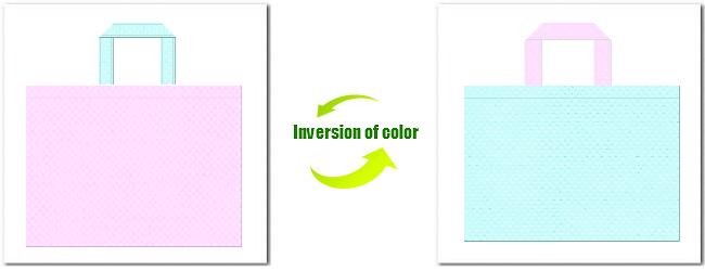 不織布No.37ライトパープルと不織布No.30水色の組み合わせ