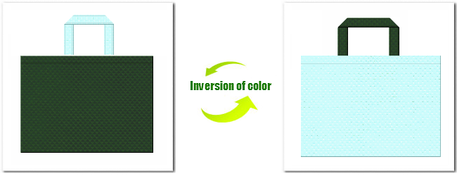 不織布No.27ダークグリーンと不織布No.30水色の組み合わせ