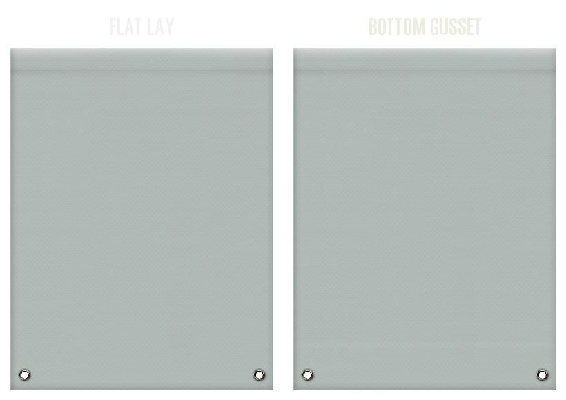 不織布リュックサックのカラーシミュレーション:グレー色