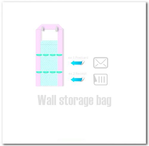 7.壁掛け小物収納袋の出来上がり。