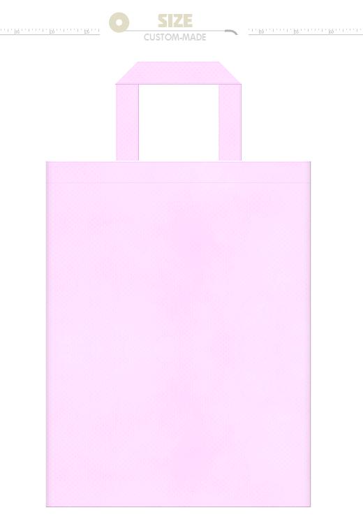 明るいピンク色の不織布バッグにお奨めのイメージ:桜・胡蝶蘭・フラミンゴ・バタフライ・ピーチ