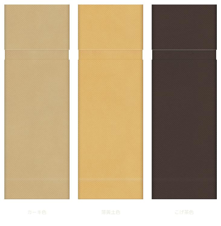 ギフト向け・リボンが似合う不織布巾着袋:茶色系3種(カーキ色・薄黄土色・こげ茶色)