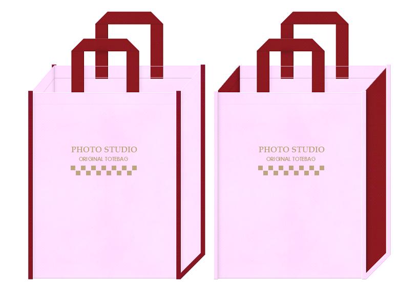 不織布バッグのデザイン:フォトスタジオ・写真館・記念アルバム用のバッグ