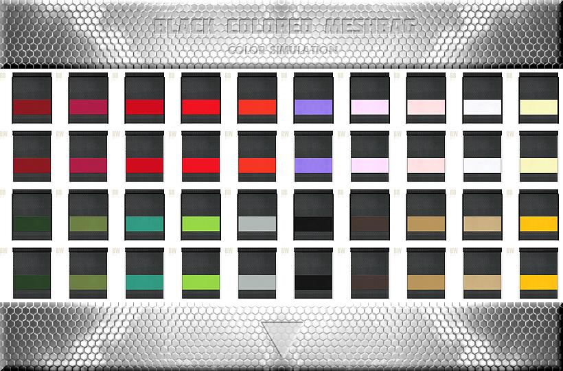 黒色メッシュバッグのカラーシミュレーション:シューズバッグ・トラベルバッグ・スポーツバッグにお奨め