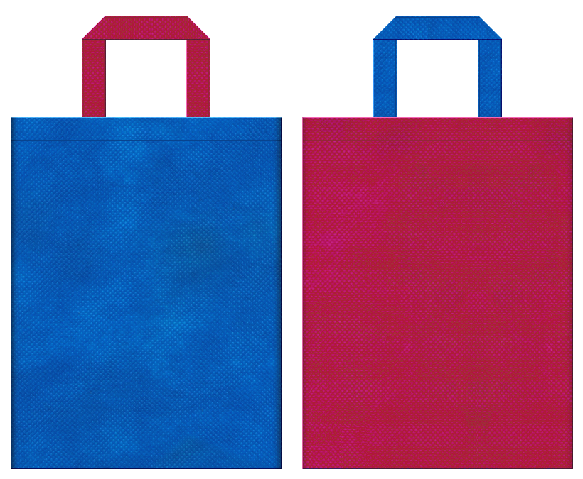 不織布トートバッグ 不織布カラーNo.22スカイブルーとNo.39ピンクバイオレットの組み合わせ
