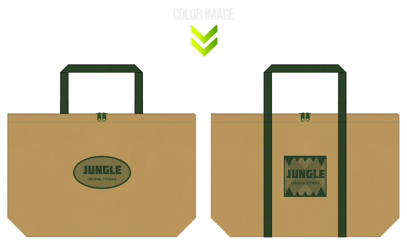 不織布バッグのデザイン:テーマパークのノベルティ