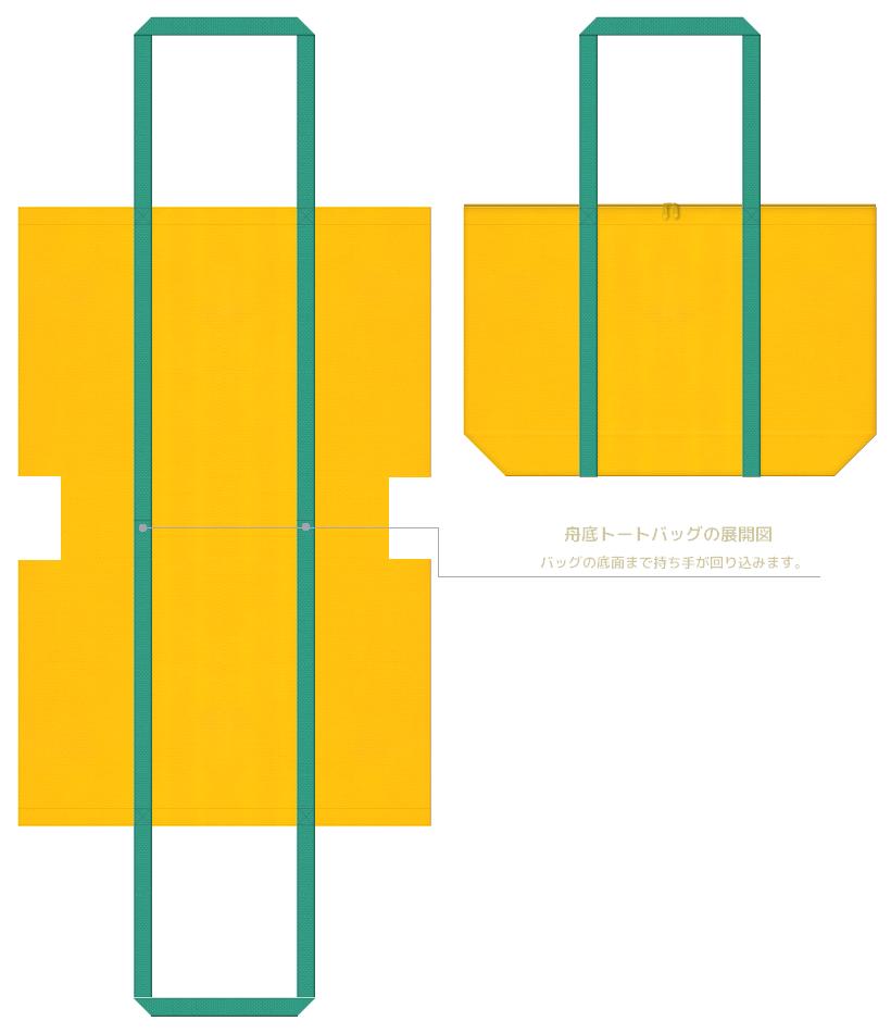 マイバッグの制作ポイント.1:持ち手を長くして、不織布バッグの強度をアップします。
