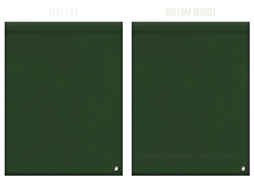 不織布ショルダーバッグのカラーシミュレーション:濃緑色