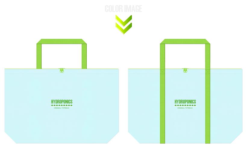 不織布バッグのデザイン:水耕栽培・水耕野菜の販促エコバッグ